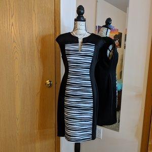 Connected Apparel v-neck dress